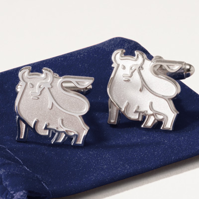 Bull Sterling Silver Cuff Links - Set of 2