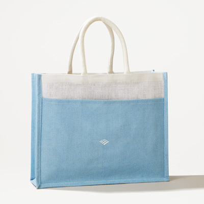 Flagscape Front Pocket Jute Tote