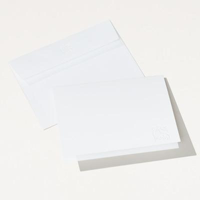 Bull Embossed Folded Note Card - 25 Pack
