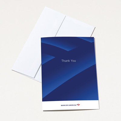 Bank of America Thank You Card - 25 Pack