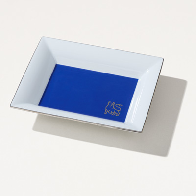 Bull French-Made Porcelain Tray