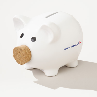 Bank of America Cork Nose Piggy Bank