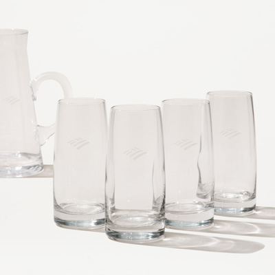 Flagscape Crystal Glass - Set of 4