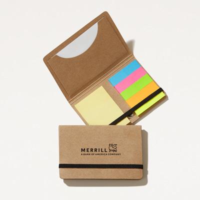 Merrill Recycled Note Pack with Sleeve