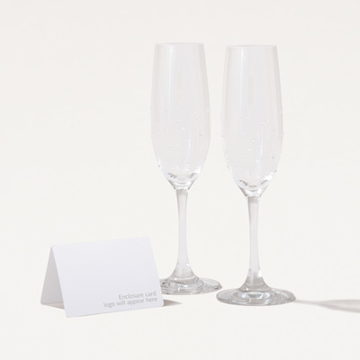 Swarovski® Crystal Encrusted Flutes - Set of 2