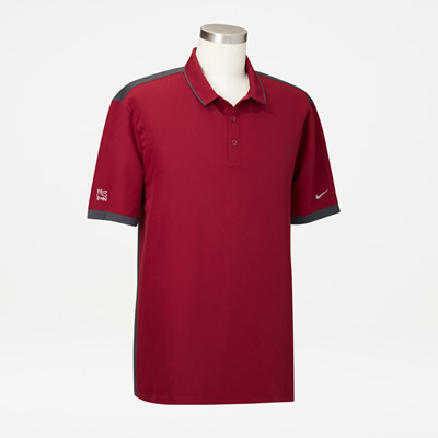 Bull Nike® Men's Stretch Woven Polo