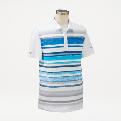Flagscape Puma® Men's Washed Stripe Polo