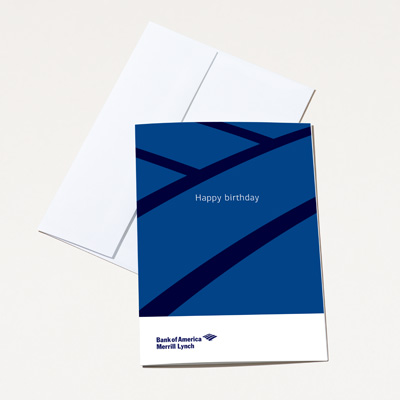 Bank of America Merrill Lynch Birthday Card - 25 Pack