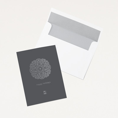 Bull Intricate Snowflake Card