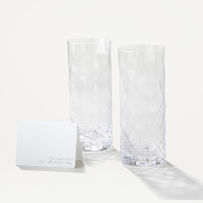 14oz Crystal Highball Glasses - Set of 2