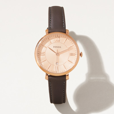 Bull Fossil® Ladies' Leather Watch