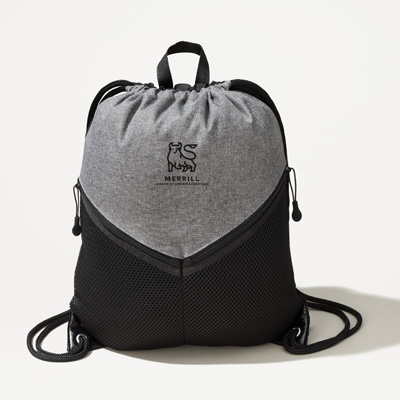 Merrill Dual Zipper Cinch Bag