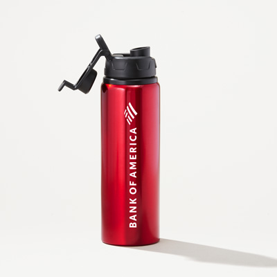 Bank of America 28-Ounce Matt Aluminum Water Bottle
