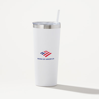 Bank of America  22-Ounce Romy Stainless Straw Tumbler