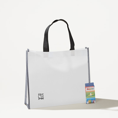 Bull Reflective Coloring Tote with Crayons