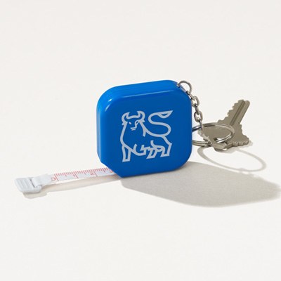 Bull Tape Measure Key Chain