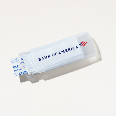 Bank of America Slide Bandage Dispenser