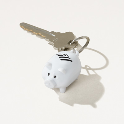 Flagscape Piggy Bank Key Ring
