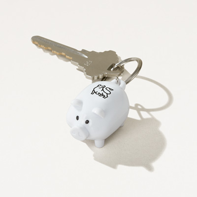 Bull Piggy Bank Key Chain