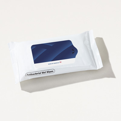 Bank of America Antibacterial Wet Wipe Pack