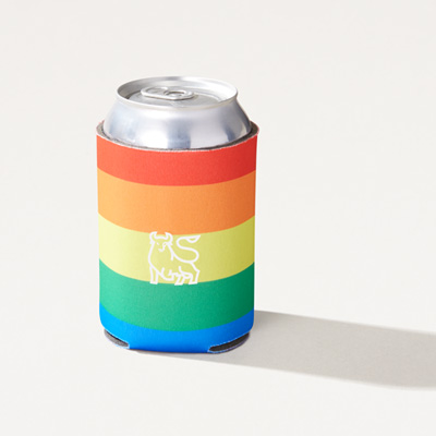 Bull Rainbow Can Cooler