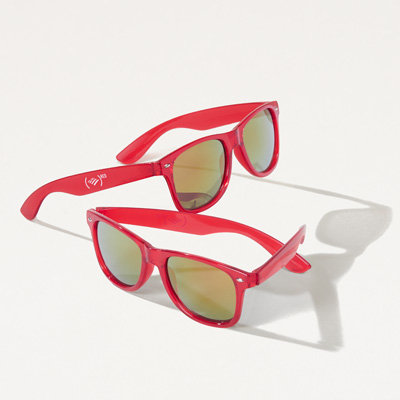 (RED) Mirrored Sunglasses