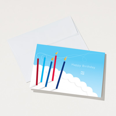 Bull Festive Birthday Card - 25 Pack