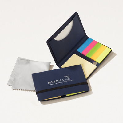 Merrill Recycled Note Pack with Cleaning Cloth