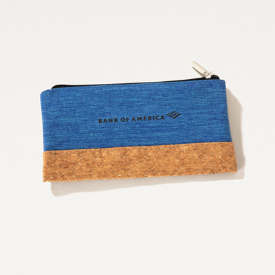 Bank of America Cork Accent Pouch