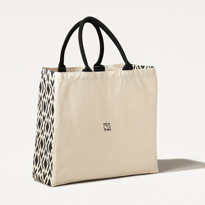 Bull Diamond Gusset Cotton Tote