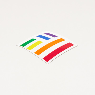Rainbow Flagscape Laptop Decal