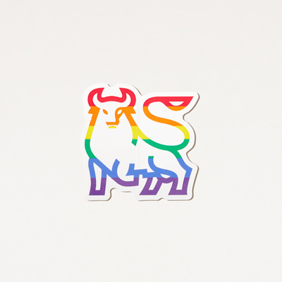 Rainbow Bull Laptop Decal