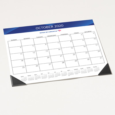 Bank of America 2020 Desk Blotter Calendar