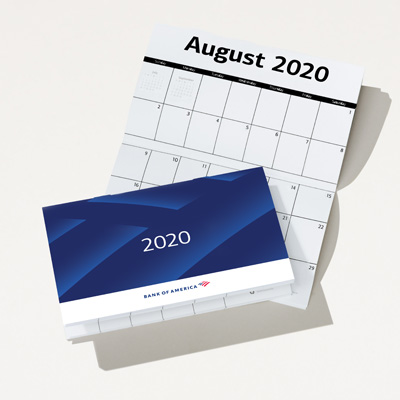 Bank of America 2020 Promotional Calendar - 25 Pack
