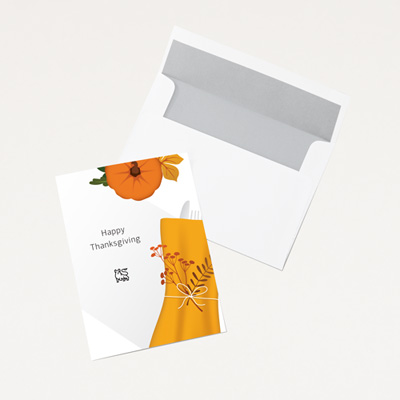Bull Thanksgiving Card - 25 Pack