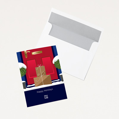 Bull Special Delivery Holiday Card - 25 Pack