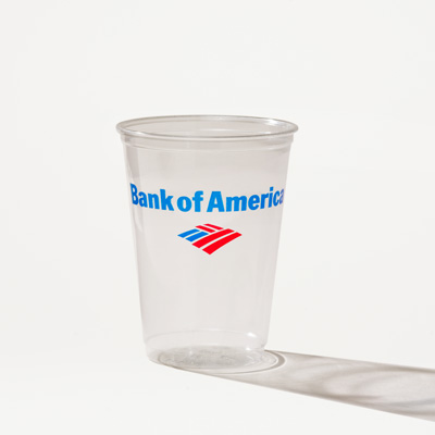 Bank of America 10-Ounce Plastic Cup - 50 Pack