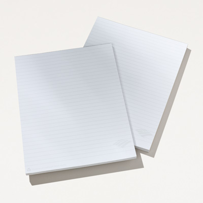 Flagscape 8.5 x 11 10-Sheet Notepad - 50 Pack