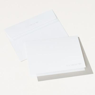 U.S. Trust Embossed Folded Note Card - 25 Pack