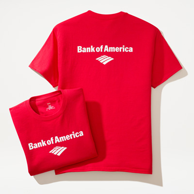 Bank of America Short-Sleeve Red Signature Shirt