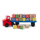 Alphabet Blocks Wooden Toy Truck