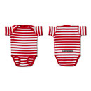 Rabbit Skins™ Striped Infant Bodysuit