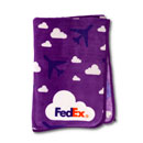 FedEx Youth Plush Blanket with Planes and Clouds