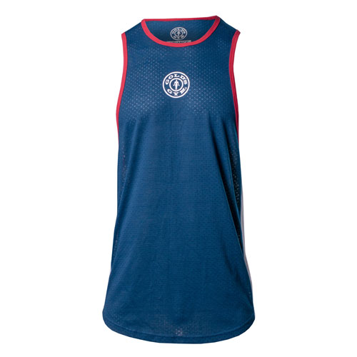 Perforated Muscle Tank - Navy