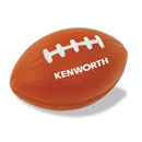 Brown Foam Football Stress Reliever with White Logo