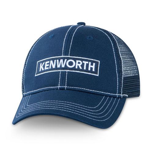 Navy Contrast Stitch Mesh Hat