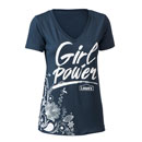 Ladies Girl Power V-Neck T-Shirt