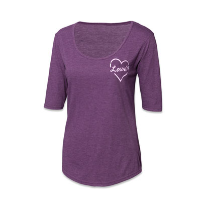 Ladies Tri-Blend Scoop Neck Half Sleeve