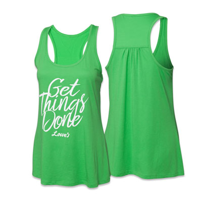 Ladies Gathered Racerback Tank