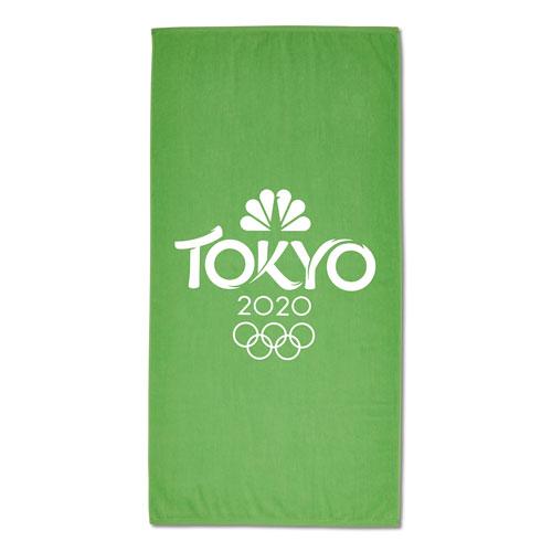 Tokyo 2020 Beach Towel - Lime Green